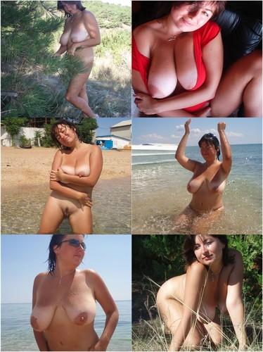 Chubby Milf Raffaela Posing Nude Outdoors