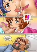 MagicIncest Ladies prepare a good favor for granny