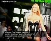 Luciana Salazar in black lingerie