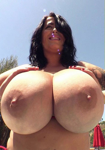 Leanne Crow – All Natural Breast Tiny Red Bikini 1 HD 720p