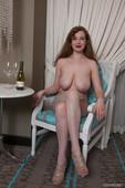 Huge tits woman Misha Lowe naked photo 6